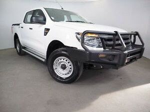 2014 Ford Ranger PX XL Double Cab White 6 Speed Manual Utility Mount Gambier Grant Area Preview