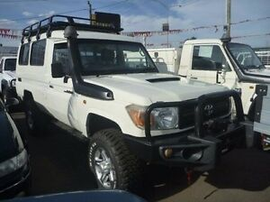2009 Toyota Landcruiser VDJ78R MY10 Workmate Troopcarrier White 5 Speed Manual Wagon Fawkner Moreland Area Preview