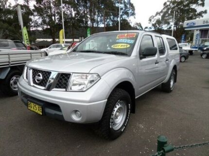 2011 Nissan Navara D40 MY11 RX Brilliant Silver 6 Speed Manual Utility Vale Of Clwydd Lithgow Area Preview
