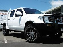 2012 Nissan Navara D40 S7 MY12 RX White 5 Speed Automatic Utility Bungalow Cairns City Preview