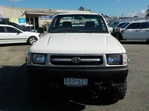 1999 Toyota Hilux White Manual Cab Chassis Pakenham Cardinia Area Preview