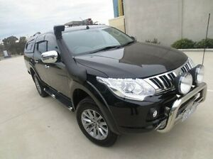 2015 Mitsubishi Triton MQ MY16 Exceed Double Cab Black 5 Speed Sports Automatic Utility Coolaroo Hume Area Preview
