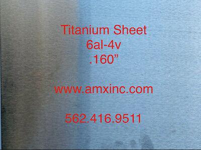 Titanium Sheet 6al-4v .160 X 12 X 12