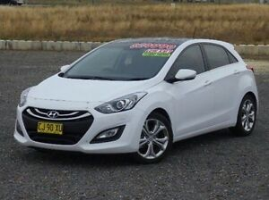 2014 Hyundai i30 GD MY14 Premium White 6 Speed Sports Automatic Hatchback Run-o-waters Goulburn City Preview