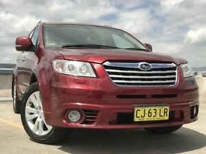 2010 Subaru Tribeca B9 MY10 R AWD Premium Pack Red 5 Speed Sports Automatic Wagon Kings Park Blacktown Area Preview