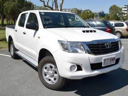 2012 Toyota Hilux KUN26R MY12 SR Double Cab White 4 Speed Automatic Utility Kedron Brisbane North East Preview