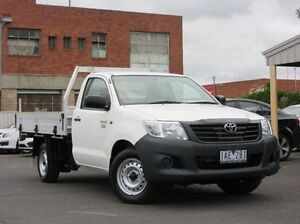2013 Toyota Hilux TGN16R MY12 Workmate White 4 Speed Automatic Cab Chassis Preston Darebin Area Preview