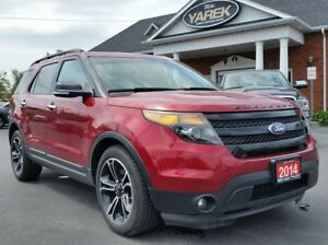 2014 Ford Explorer Sport 4x4, Leather Heated/Cooled Seats, Pano