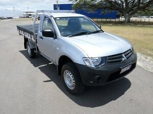 2013 Mitsubishi Triton MN MY13 GL Silver 5 Speed Manual Cab Chassis Hyde Park Townsville City Preview