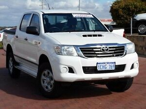 2013 Toyota Hilux KUN26R MY12 SR Double Cab White 5 Speed Manual Utility Spearwood Cockburn Area Preview