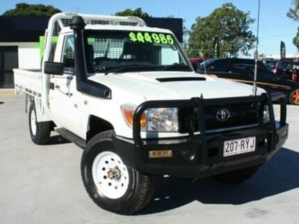 2011 Toyota Landcruiser VDJ79R MY10 Workmate White 5 Speed Manual Cab Chassis Springwood Logan Area Preview