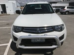 2011 Mitsubishi Triton MN MY12 GLX Double Cab White 5 Speed Manual Utility Mornington Mornington Peninsula Preview