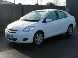 2007 Toyota Yaris NCP93R YRS White 4 Speed Automatic Sedan Mount Gambier Grant Area Preview