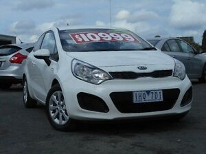 2013 Kia Rio UB MY13 S White 6 Speed Manual Hatchback Mitchell Park Ballarat City Preview