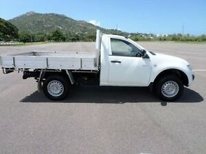2010 Mitsubishi Triton MN MY10 GLX White 4 Speed Automatic Cab Chassis Hyde Park Townsville City Preview