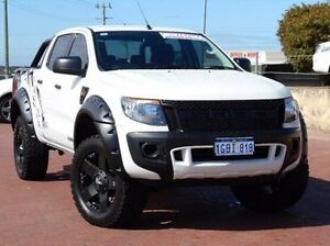 2014 Ford Ranger PX XL Double Cab White 6 Speed Sports Automatic Utility Spearwood Cockburn Area Preview