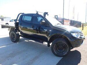 2012 Mitsubishi Triton MN MY13 GLX Double Cab Black 5 Speed Manual Utility Singleton Singleton Area Preview