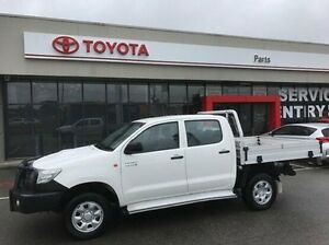 2011 Toyota Hilux KUN26R MY12 SR Double Cab White 5 Speed Manual Cab Chassis Mornington Mornington Peninsula Preview