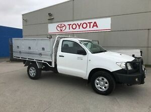 2010 Toyota Hilux KUN26R MY10 SR White 5 Speed Manual Cab Chassis Mornington Mornington Peninsula Preview