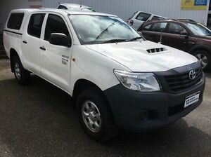 2012 Toyota Hilux KUN26R MY12 Workmate Double Cab White 4 Speed Automatic Utility Wodonga Wodonga Area Preview