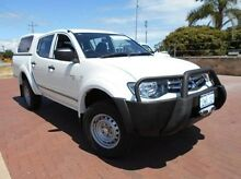 2012 Mitsubishi Triton MN MY12 GLX Double Cab White 5 Speed Manual Utility Spearwood Cockburn Area Preview
