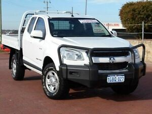 2012 Holden Colorado RG MY13 LX Space Cab White 5 Speed Manual Cab Chassis Spearwood Cockburn Area Preview