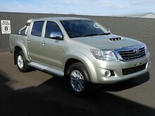 2013 Toyota Hilux KUN26R MY12 SR5 Double Cab Silver 5 Speed Manual Utility Mount Gambier Grant Area Preview