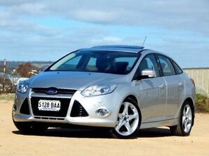 2013 Ford Focus LW MKII Titanium PwrShift Silver 6 Speed Sports Automatic Dual Clutch Sedan Christies Beach Morphett Vale Area Preview