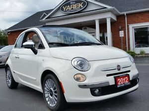 2012 Fiat 500 500C Lounge Convertible, Leather Heated Seats, Rea