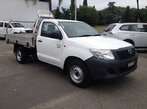 2013 Toyota Hilux TGN16R MY12 Workmate White 5 Speed Manual Cab Chassis Wodonga Wodonga Area Preview