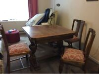For sale: Wardrobe and dinign room table with 4 chairs - collection only