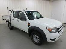 2009 Ford Ranger PJ XL Crew Cab White 5 Speed Manual Utility Glebe Hobart City Preview
