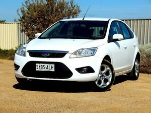 2011 Ford Focus LV Mk II LX White 5 Speed Manual Hatchback Christies Beach Morphett Vale Area Preview