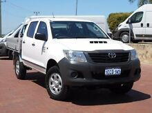 2012 Toyota Hilux KUN26R MY12 Workmate Double Cab White 4 Speed Automatic Utility Spearwood Cockburn Area Preview