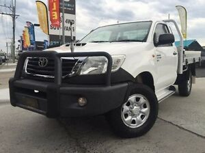 2012 Toyota Hilux KUN26R MY12 SR White 5 Speed Manual Cab Chassis Dandenong Greater Dandenong Preview