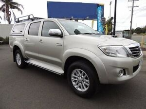 2013 Toyota Hilux KUN26R MY12 SR5 Double Cab Silver 4 Speed Automatic Utility Oakleigh Monash Area Preview