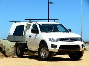 2012 Mitsubishi Triton MN MY12 GLX White 4 Speed Automatic Cab Chassis Christies Beach Morphett Vale Area Preview