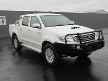 2012 Toyota Hilux KUN26R MY12 SR5 Double Cab White 5 Speed Manual Utility Mount Gambier Grant Area Preview