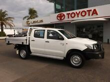 2013 Toyota Hilux KUN26R MY14 SR Double Cab White 5 Speed Manual Cab Chassis Rockhampton Rockhampton City Preview