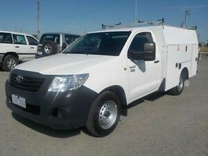 2014 Toyota Hilux White Automatic Cab Chassis Pakenham Cardinia Area Preview