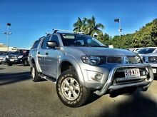 2011 Mitsubishi Triton MN MY11 GL-R Double Cab Silver 5 Speed Manual Utility West Mackay Mackay City Preview