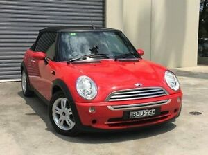 2007 Mini Cabrio R52 MY05 Cooper Red 5 Speed Manual Convertible Kings Park Blacktown Area Preview