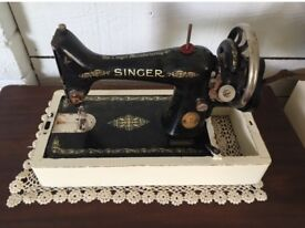 Beautiful vintage black and gold singer sewing machine