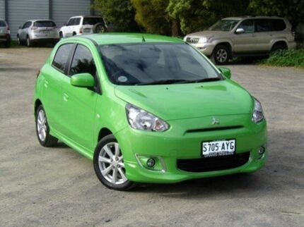 2013 Mitsubishi Mirage LA MY14 Green 1 Speed Constant Variable Hatchback Morphett Vale Morphett Vale Area Preview