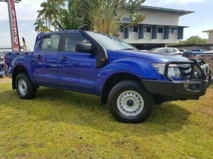 2015 Ford Ranger PX XL Double Cab Blue 6 Speed Sports Automatic Utility