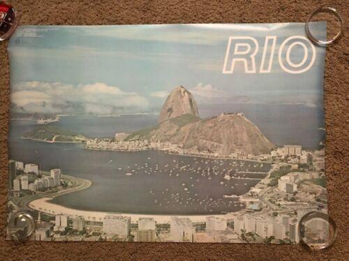 Brazil  Vintage 1988 Official Rio de Janeiro Travel/Landscape Poster  - 24X36