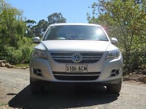 2009 Volkswagen Tiguan 5N MY09 103TDI 4MOTION Silver 6 Speed Sports Automatic Wagon Christies Beach Morphett Vale Area Preview
