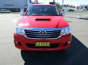 2013 Toyota Hilux KUN26R MY12 SR5 Double Cab Red 4 Speed Automatic Utility Cardiff Lake Macquarie Area Preview