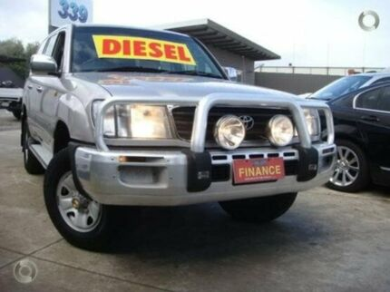 2001 Toyota Landcruiser HDJ100R GXL Silver 4 Speed Automatic Wagon Enfield Port Adelaide Area Preview