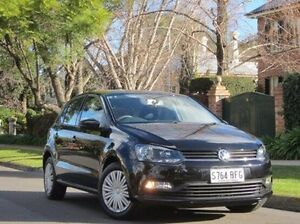 2015 Volkswagen Polo 6R MY15 66TSI Trendline Black 5 Speed Manual Hatchback Thorngate Prospect Area Preview